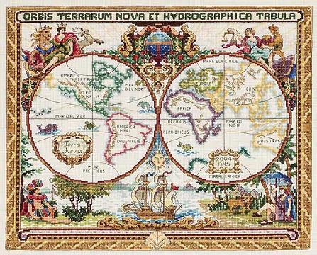 Janlynn 015-0223 Old World Map