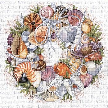 Janlynn 023-0359 Seashell Wreath