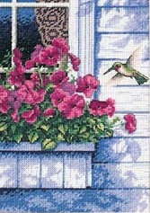 Dimensions 65037 Flowers and Hummingbird