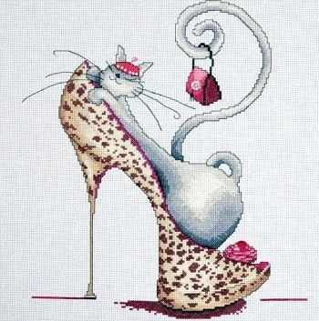 Design Works 2744 Fashionista Cat