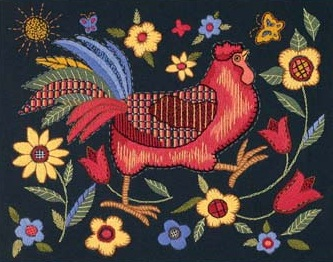 Dimensions 01543 Rooster on Black