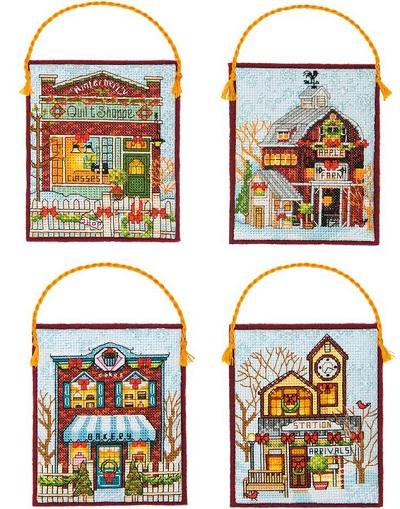 Dimensions 08954 Winter Village Ornaments