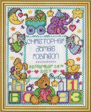 Design Works 3234 Baby sampler