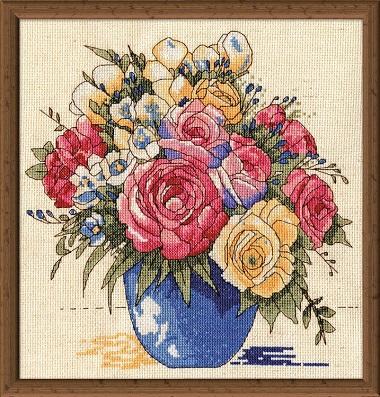 Design Works 3248 Pastel floral vase