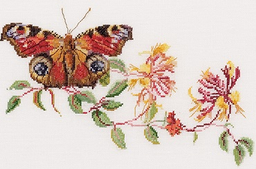 Thea Gouverneur GOK439 Butterfly on floral branch