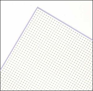 White plastic canvas