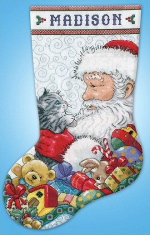 Design Works 5973 Santa and Kitten
