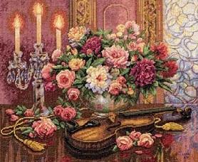 Dimensions 35185 Romantic floral