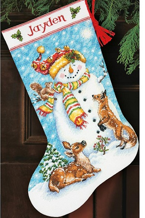 Dimensions 08963 Winter Friends Stocking