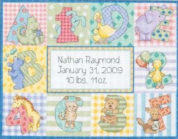 Dimensions 73472 Zoo Alphabet Birth Record