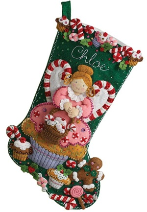 Bucilla 86207 Cupcake stocking