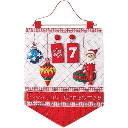 Bucilla 86551 Scout Elf Countdown Advent Calendar