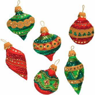 Bucilla 86725 glitzy ornaments