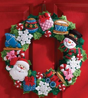 Bucilla 86363 Christmas toys wreath