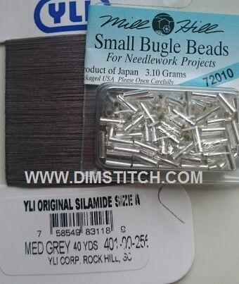 YLI Bead Thread-Med Grey