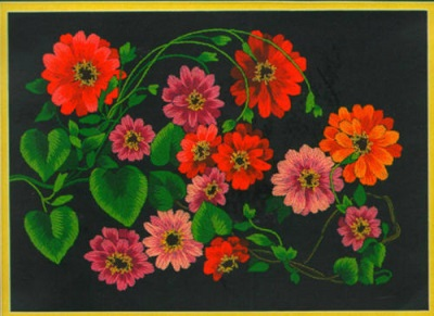 JCA 00489 Garden zinnias