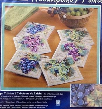 Janlynn 023-0390 Grape coasters