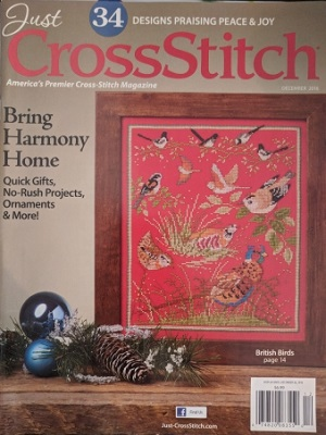 Just Cross Stitch Magazine November/December Celebrate the Holidays