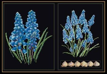 Thea Gouverneur GOK443B Blue flower