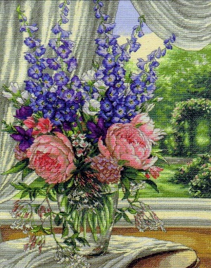 Dimensions 35257 Peonies and delphiniums