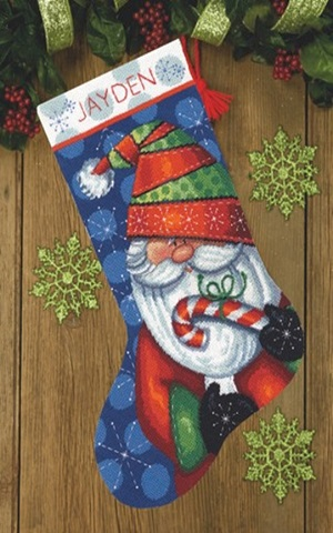 Dimensions 09154 Sweet Santa stocking