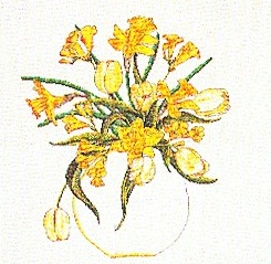 Thea Gouverneur GOK1063 Daffodil Bouquet