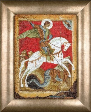 Thea Gouverneur GOK498A Icon St. George and the Dragon