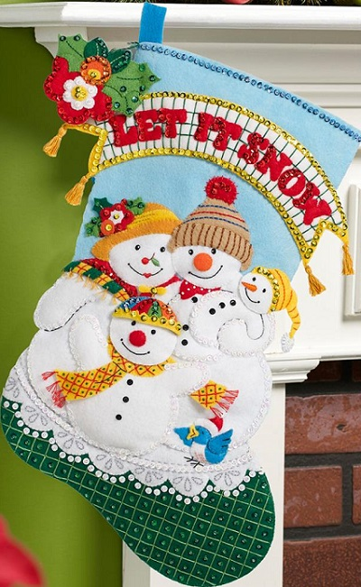 Bucilla 86650 Let it snow stocking