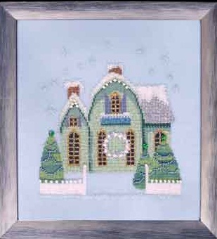 Little Snowy Green Cottage - Snow Globe Village Series