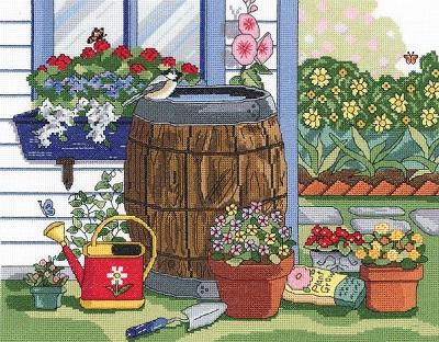Janlynn 17-0110 Rain barrel and window box