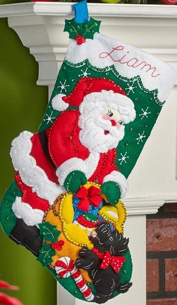 Bucilla 86654 Santa and scottie