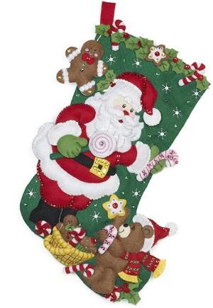 Bucilla 86448 Santa & Teddy bear