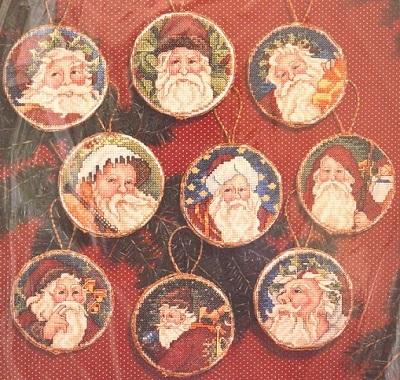 Janlynn 12555 Santa ornaments