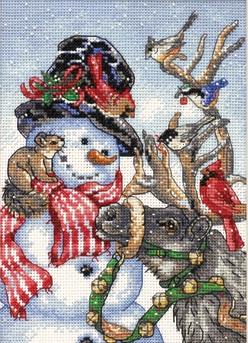 Dimensions 08824 Snowman & Reindeer