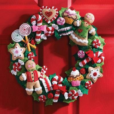 Bucilla 86264 Cookies & Candy wreath