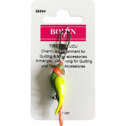 Bohin Decorative Charm-Green Parrot
