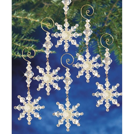 Beadery Snow Crystal Danglers