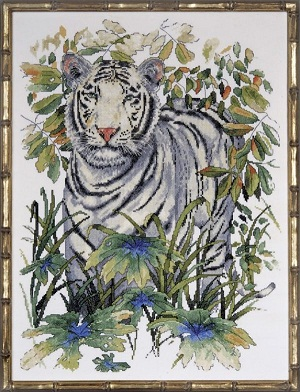 Design Works 2746 White tiger