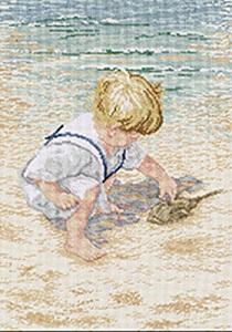 Janlynn 029-0047 Boy With Horseshoe Crab