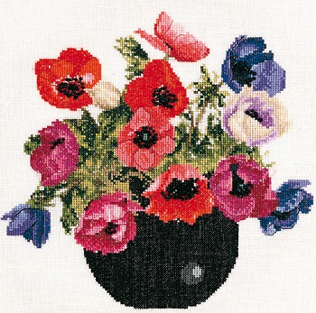 Thea Gouverneur GOK1064 Bowl of Anemones