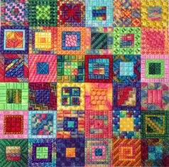 Calypso Squares, Needle Delights Originals