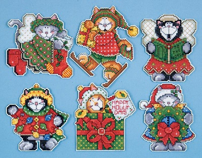 Design Works 1667 Holiday kittens