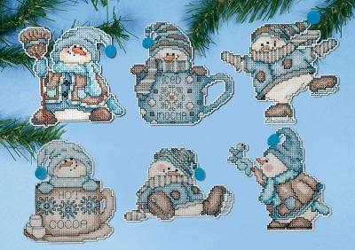 Design Works 1689 Cocoa snowmen