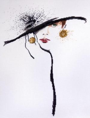 Design Works 2554 Black hat (Green eyes)