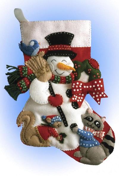 Design Works 5029 Snowman with animals