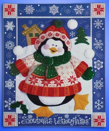 Design Works 5111 Snowball penguin