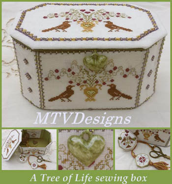 MTV Designs Tree Of Life Sewing Box