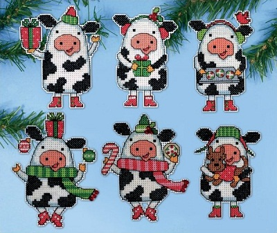 Design Works 1695 Christmas cows