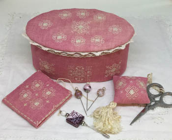 MTV Designs Ca'Rosada - Pink Sewing Box &Lace From Venice