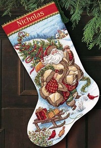 Dimensions 08752 Santa's Journey Stocking
